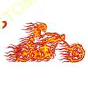 Sweat capuche avec zip ghost rider