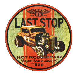 Sweat capuche avec zip last stop hot rod