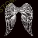 Sweat capuche avec zip ailes d'ange