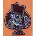 Patch, écusson top hat skull