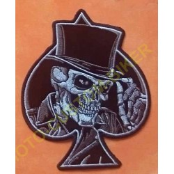 Patch, écusson top hat skull, grand model