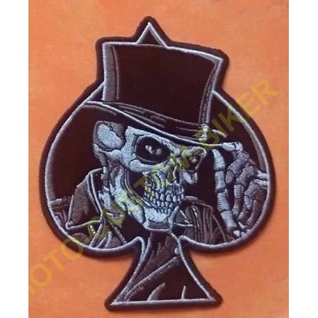 Patch, écusson top hat skull