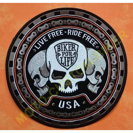 Patch, écusson biker for live