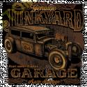 Sweat capuche avec zip junk yard garage
