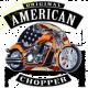 Sweat capuche avec zip american choppers