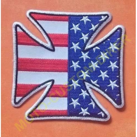 Patch, écusson Iron Cross American Flag