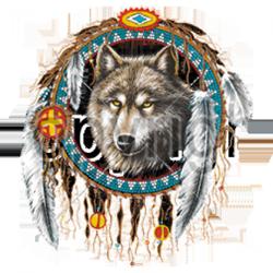 T shirt femme dreamcatcher loup