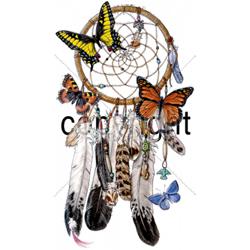 T shirt femme dreamcatcher papillon