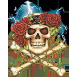 T shirt femme skull and roses.