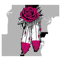 T shirt femme v twin & roses