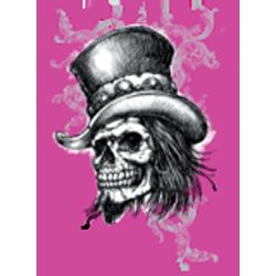 T shirt femme skull top hat