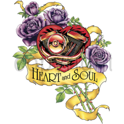 T shirt femme heart & soul