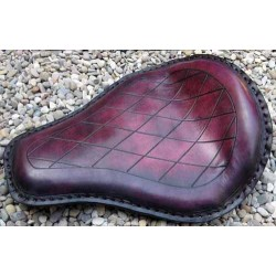 Selle custom rombos bordeaux