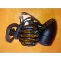 Clignotants moto bullet noir avec sa grille old skool