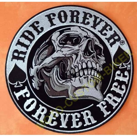 Patch, écusson ride forever, forever free