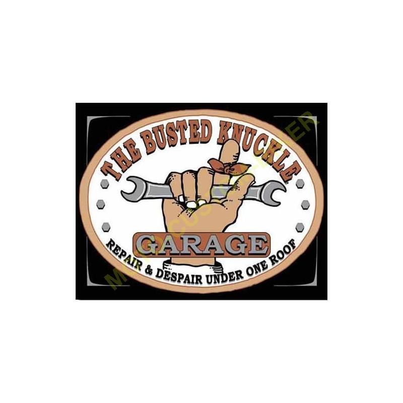 plaque metal decorative busted knuckle motocustombiker accessoiresbiker. Black Bedroom Furniture Sets. Home Design Ideas