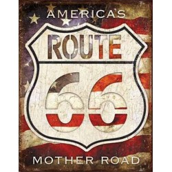 Plaque metal decorative America's road