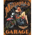 Plaque metal decorative motorhead