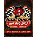 Plaque metal decorative hot rod shop