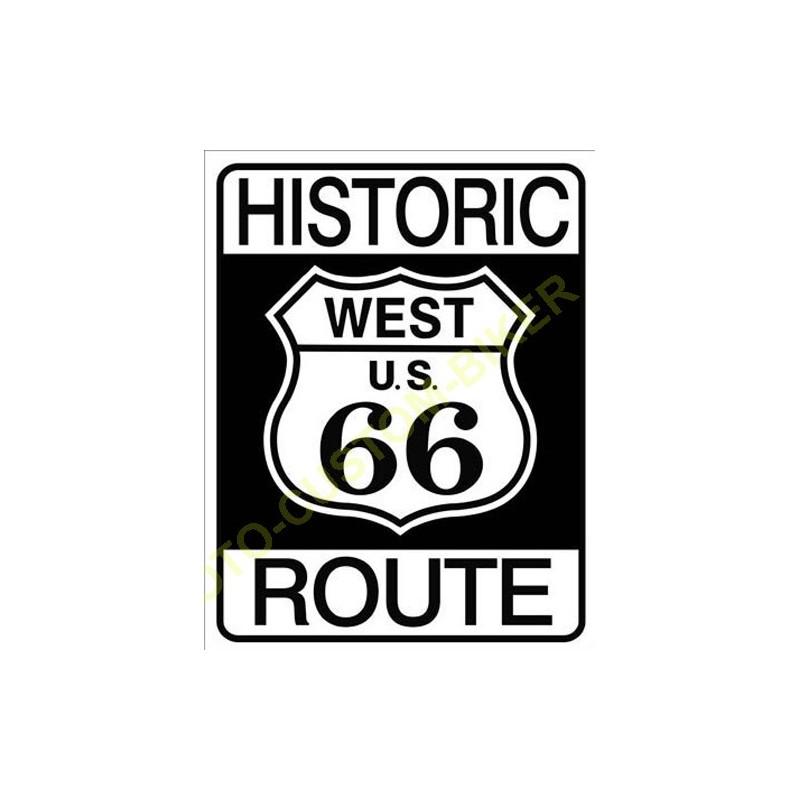 plaque metal decorative historic route 66 motocustombiker accessoiresbiker. Black Bedroom Furniture Sets. Home Design Ideas