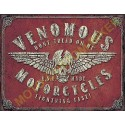 Plaque metal decorative venomous motorcycles