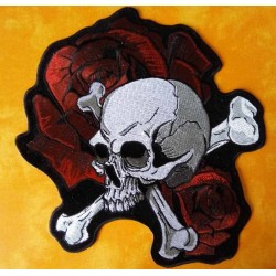 Patch, écusson skull and roses