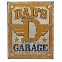 Plaque metal decorative dad garage