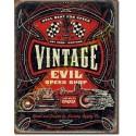 Plaque metal decorative vintage evil