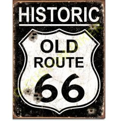 Plaque metal decorative old route 66
