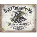 Plaque metal decorative land of the free