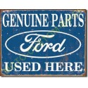 Plaque metal decorative ford parts used