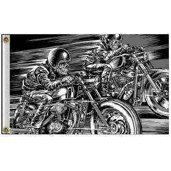 Drapeaux biker skull racers