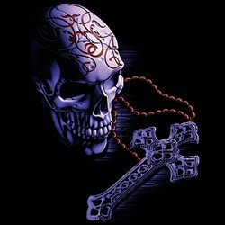 Sweat capuche zippé femme rosary skull