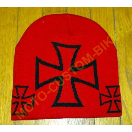 Bonnet biker croix de malte