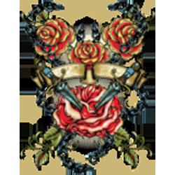 Sweat capuche zippé femme dagger & roses