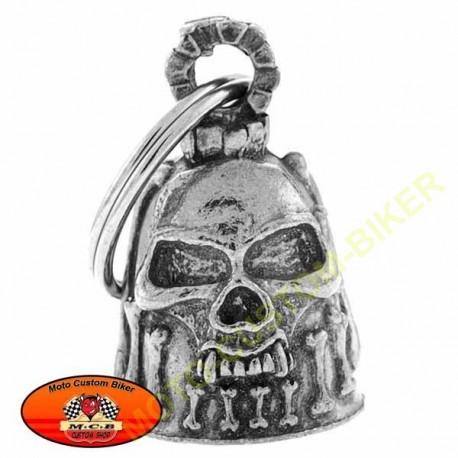 Clochette moto tête de mort
