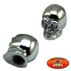 Bouchons de valves moto tête de mort