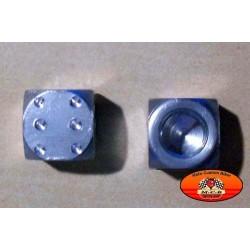 Bouchons de valves moto dés chromés