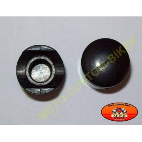 Bouchons de valves moto piston noir