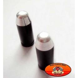 Bouchons de valves moto douille pistolet noir