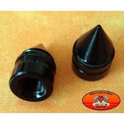 Bouchons de valves moto spike noir