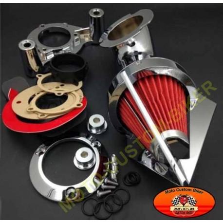filtre air apolo chrom pour harley sportster de 91 2006 xl motocustombiker accessoiresbiker. Black Bedroom Furniture Sets. Home Design Ideas