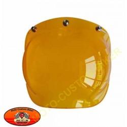 Visière bulle jaune pour casque jet