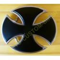 Boucle de ceinture croix templier noir