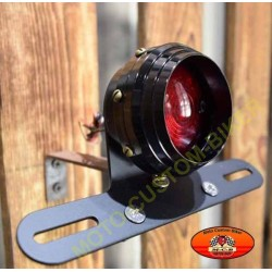 Feux arrière CNC round black
