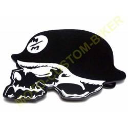 Boucle de ceinture germain skull noir.