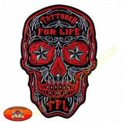 Patch, écusson muerte tattooed for live