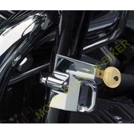 antivol de casque moto universel motocustombiker accessoiresbiker. Black Bedroom Furniture Sets. Home Design Ideas