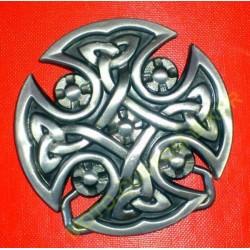 Boucle de ceinture croix de malte celtique