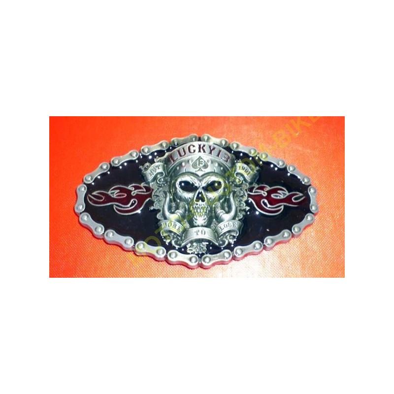 Boucle de ceinture lucky 13 - MotoCustomBiker    AccessoiresBiker fcac8fe6aea